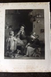 Gems of European Art 1846 Folio Print. The Jews Harp. Judaica